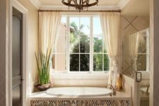 17 chic cream curtains for a refined bathroom