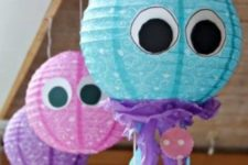 17 colorful jellyfish lanterns of usual paper ones
