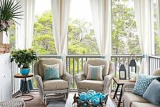 17 draperies used for privacy and sun screening