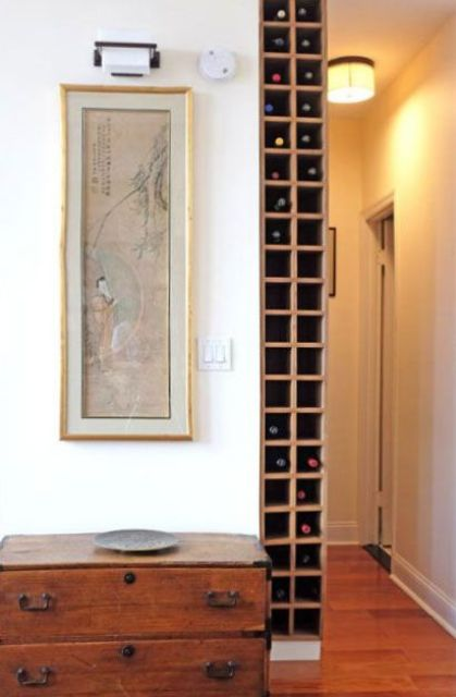 in wall storage compartments for wine