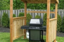 17 simple wooden shelter for a grill is easy to DIY