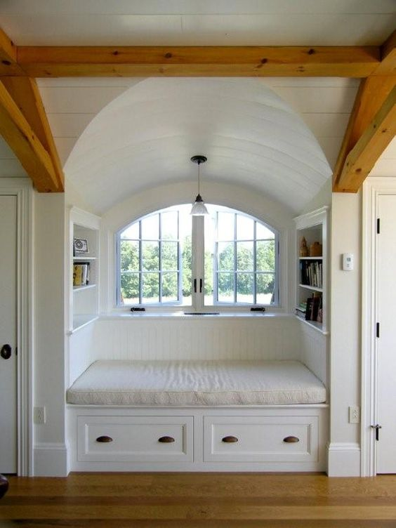 23 smart ideas to handle attic windows shelterness for Bed nook ideas