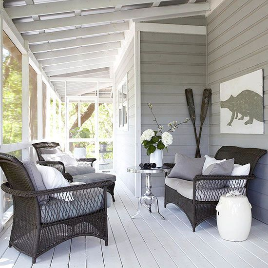 wrap around screened porch as a veranda