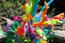 18 coral reef made of pool noodles