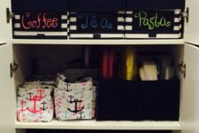 18 creative fabric caddies for packeted and canned food
