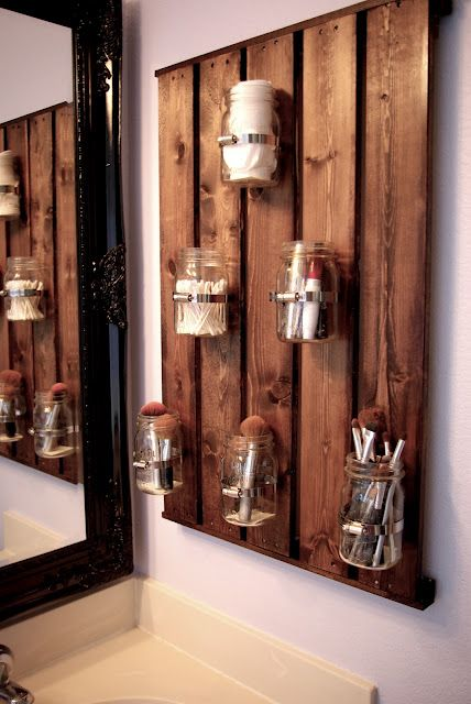 rustic bathroom storage unit