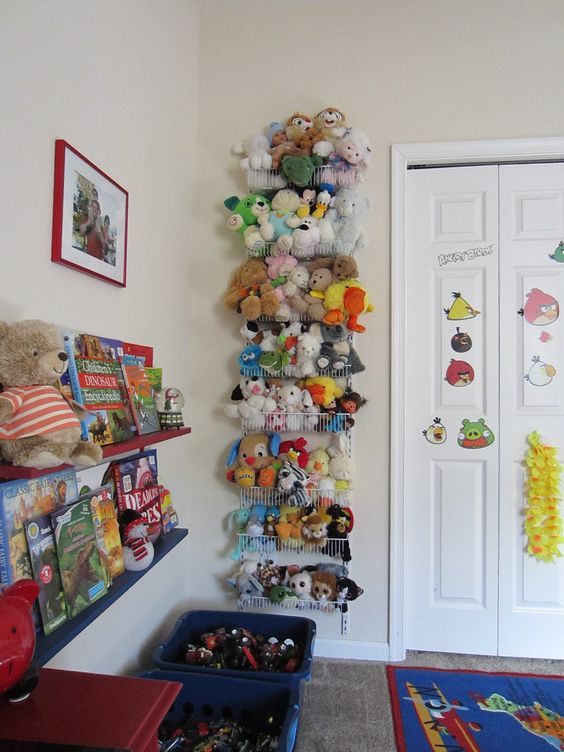 8-tier adjustable door rack used for stuffed animals
