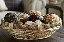 19 decorative round rope and willow basket to hold various stuff