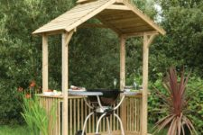 20 wooden BBQ shelter with shelving
