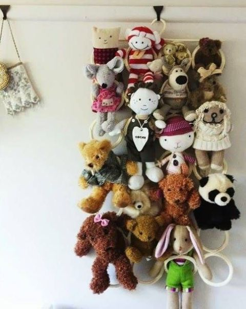 IKEA Komplement holder to store stuffed animals off the floor