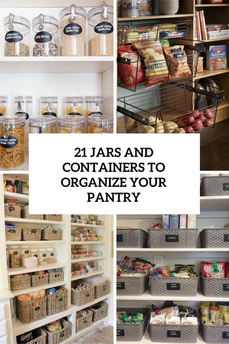 jars and containers to organize your pantry cover