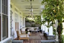 21 outdoor living space with garden views