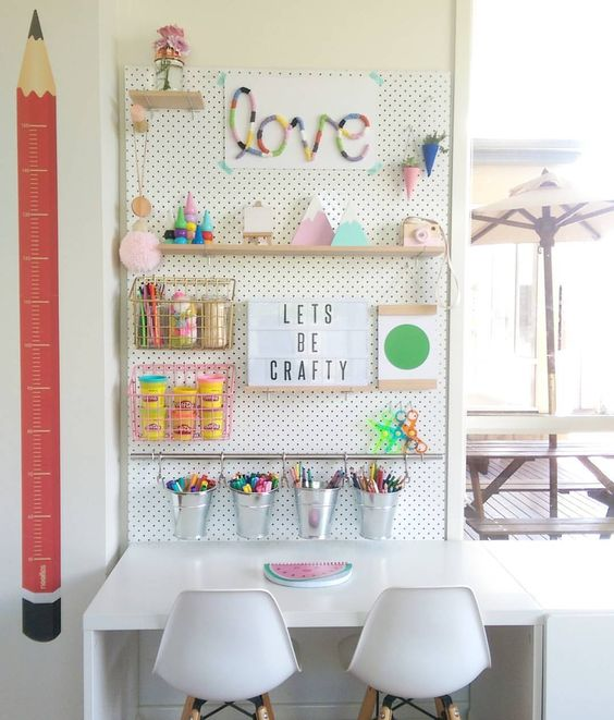 pegboard to attach holder, hangers and shelves