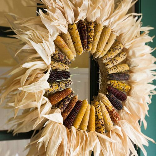 bold rustic corn and corn stalks wreath