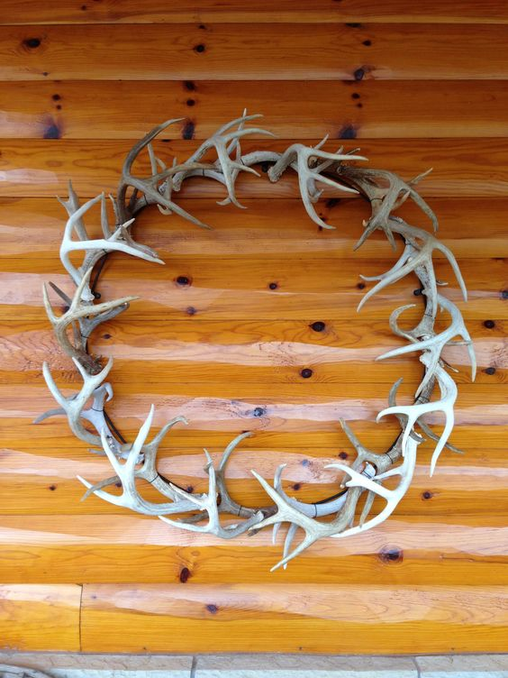 Deer Antler Wreath Is Suitable For Any Season Especially The Fall