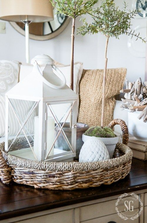Low Basket For Summer Home Decor