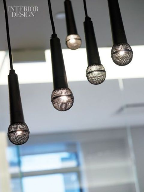 microphone chandelier for those who love singing