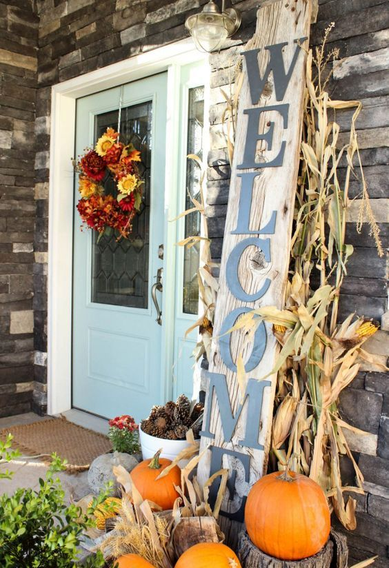 such a rustic sign will add plenty of country charm while setting an inviting atmosphere