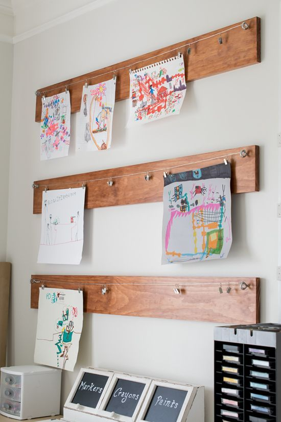 wooden boards for displaying artworks