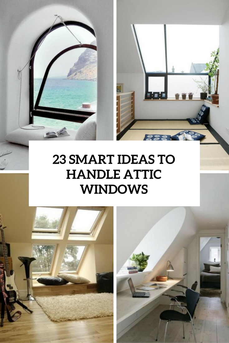 smart ideas to handle attic windows cover