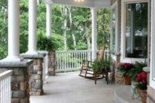23 traditional wrap around porch with rocker chairs