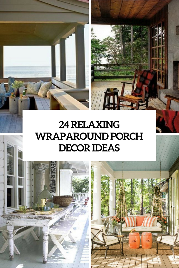 Porch Decor 24 relaxing wraparound porch decor ideas - shelterness