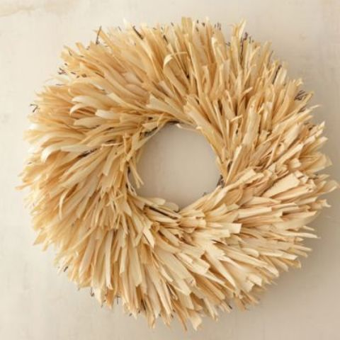corn stalks wreath for indoors and outdoors