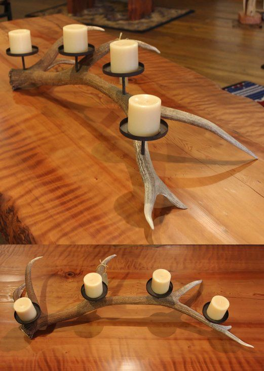 Awesome rustic candle holder