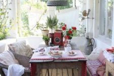 27 vintage back porch as a dining space