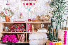 27 woven pompom basket planters