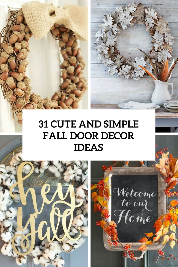 cute and simple fall door decor ideas cover