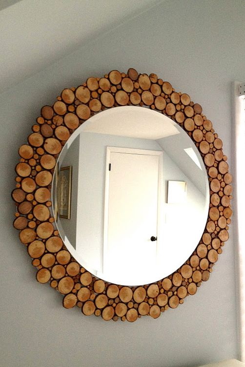 round mirror frame to add a cozy touch to the space