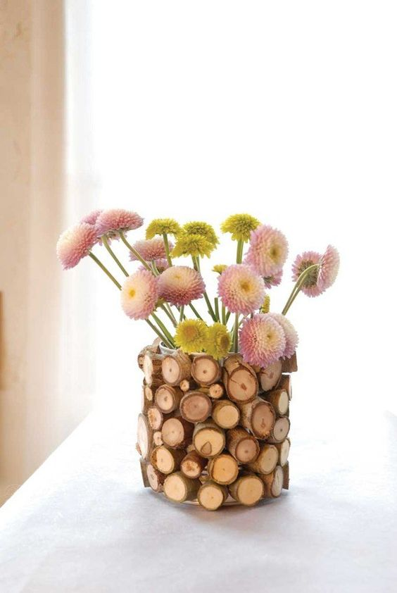 rustic cover for a vase or a planter