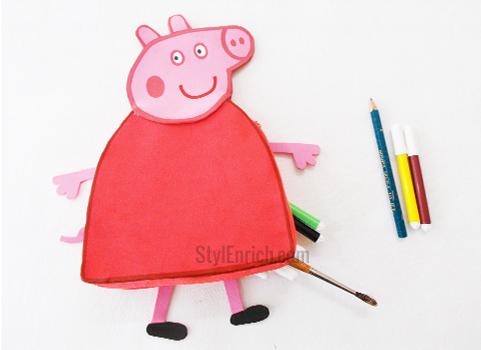 DIY Peppa Pig pencil pouch