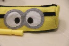 DIY minion pencil case