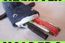 DIY shark pencil case