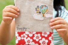 DIY hot air balloon zipper pouch