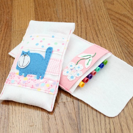 DIY felt kitty pencil case