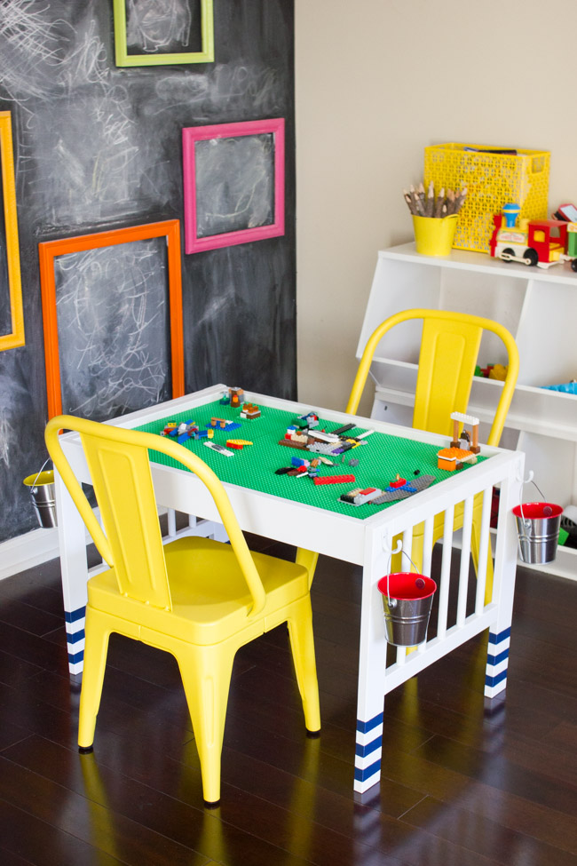 DIY Lego Table From IKEA Gulliver Changing Table (via Www.erinspain.com)