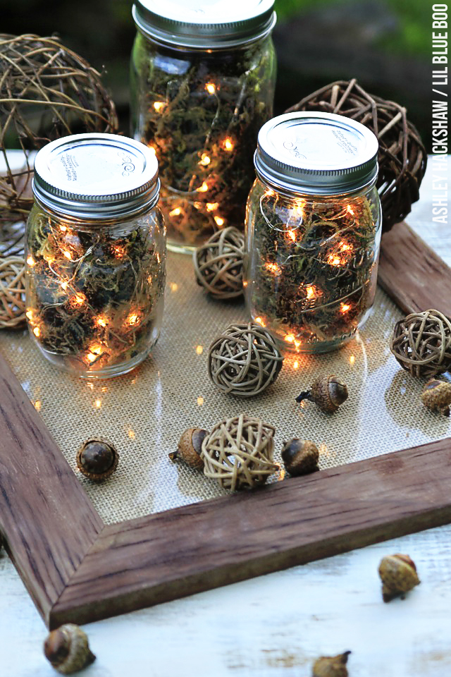 DIY fall firefly mason jar lanterns (via www.lilblueboo.com)