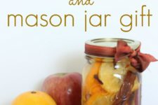 DIY fall simmering pot in a mason jar