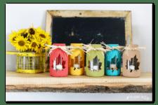 DIY fall mason jar leaf lanterns