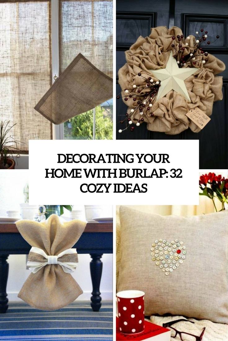 burlap home decor Archives - Shelterness