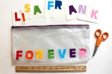 DIY pencil bag with vinyl letters