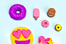 DIY colorful back to school erasers