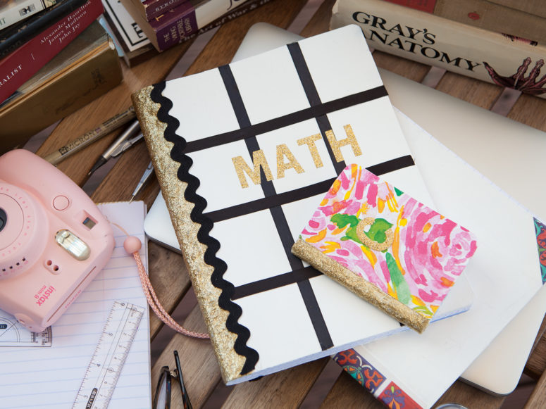 DIY back to school notebooks (via https:)
