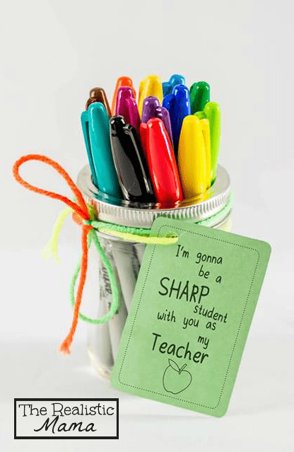 DIY sharpie teacher's gift (via www.therealisticmama.com)