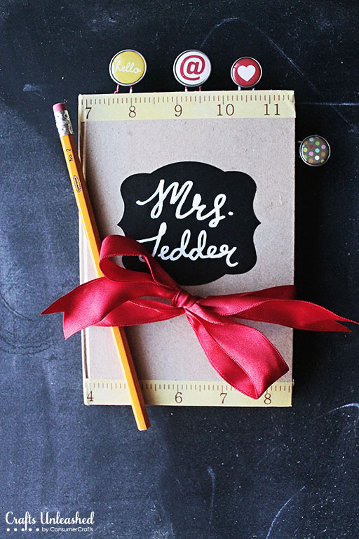 DIY personalized teacher's journal (via blog.consumercrafts.com)