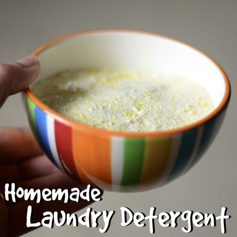 DIY laundry detergent for $3 (via www.theburlapbag.com)