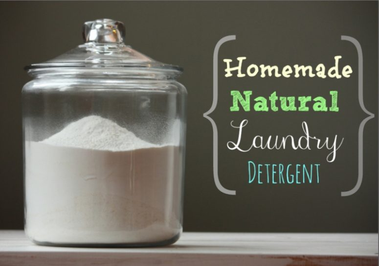 DIY detergent with lemon essential oils and vinegar (via www.mommypotamus.com)